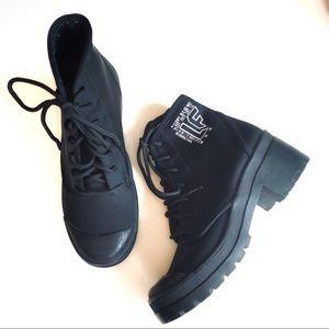 Jeffrey Campbell x LF Black Moto Combat Boots
